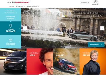 Citroen.com homepage