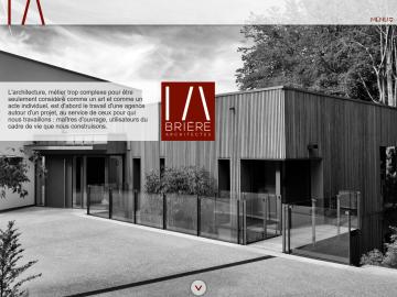 Brière Architectes homepage