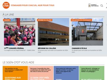 SGEN CFDT homepage